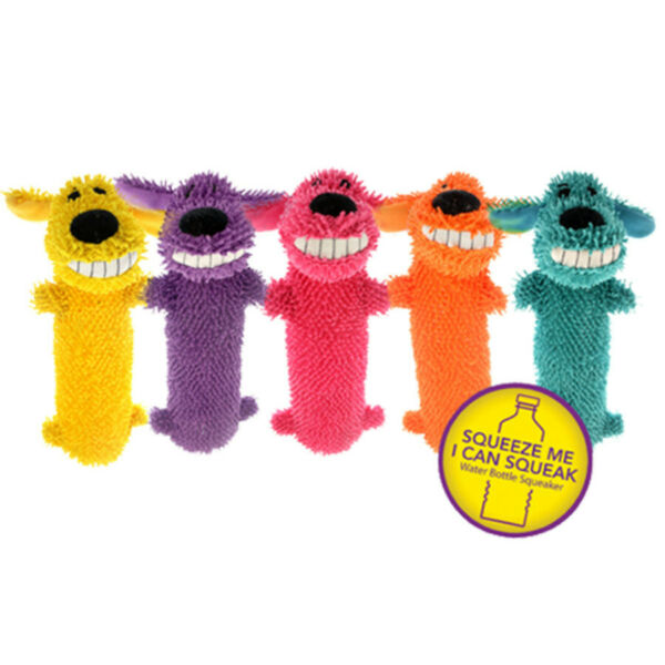 Multipet Loofa Floppy Water Bottle Buddies Dog Toy Colors Vary (Free Shipping US $9.95
