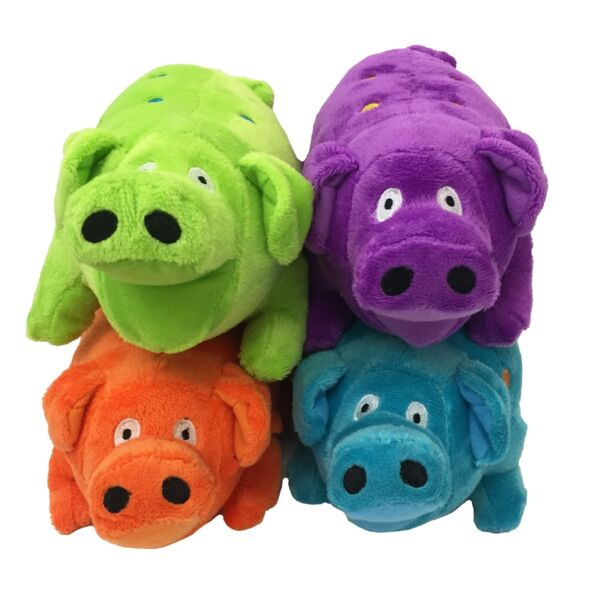MultiPet Globlet Plush Pig 9in Dog Toy (Free Shipping in USA) Colors Vary $8.95