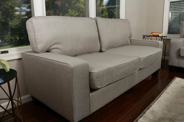 Home Life Upholstered Love Seat Linen 2 Person Sofa Contemporary Pocket Coil 61quot;