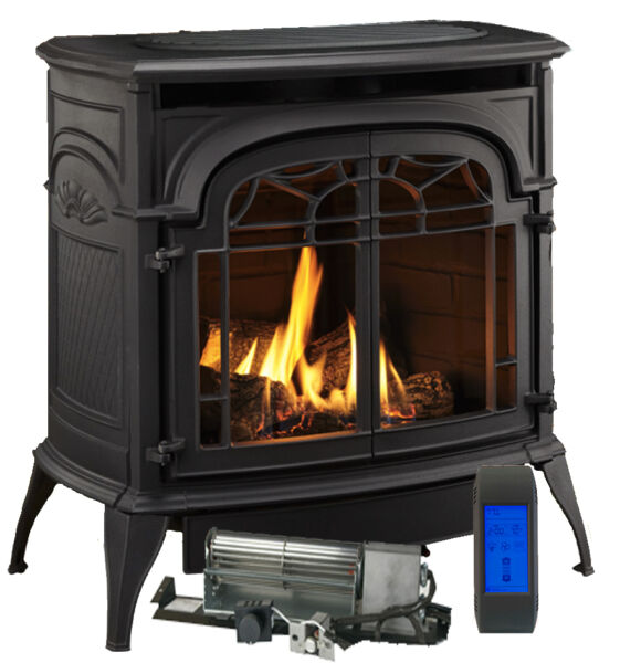 Vermont Castings Stardance Vent Free Gas Stove Classic Black w Remote