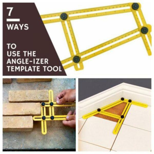 Multi Angle-Izer Template Measuring Tool Ruler Mechanism Slides Instrument