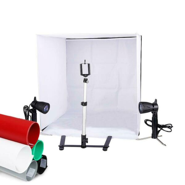 Photo Studio 24quot; Photography Lighting Tent Kit Backdrop Cube In A Box Mini Stand $36.95