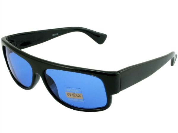 Golf Ball Finder Glasses Sunglasses Black Frame Blue Lens