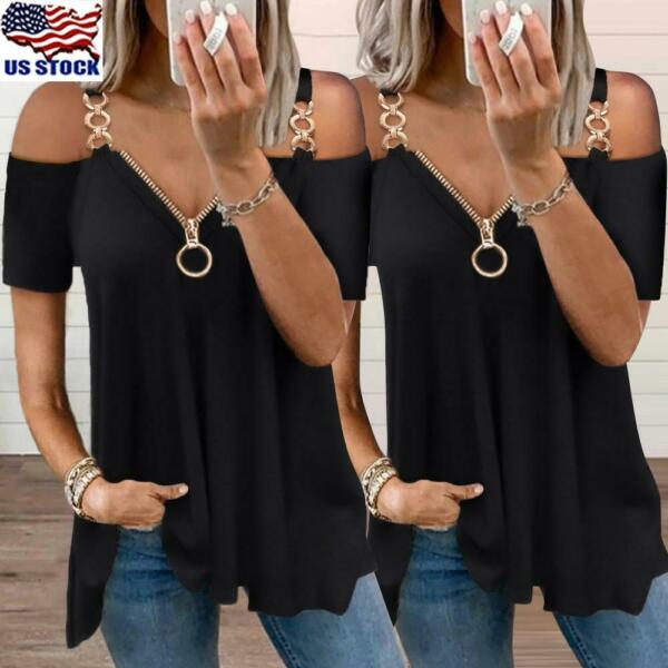 Sexy Women Blouse T Shirt V Neck Long Sleeve Button Tee Ladies Casual Slim Tops