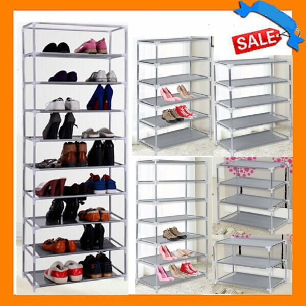 Newest 3710 Tier Shoes Rack Storage Organizer Household Metal Free Stand Pairs