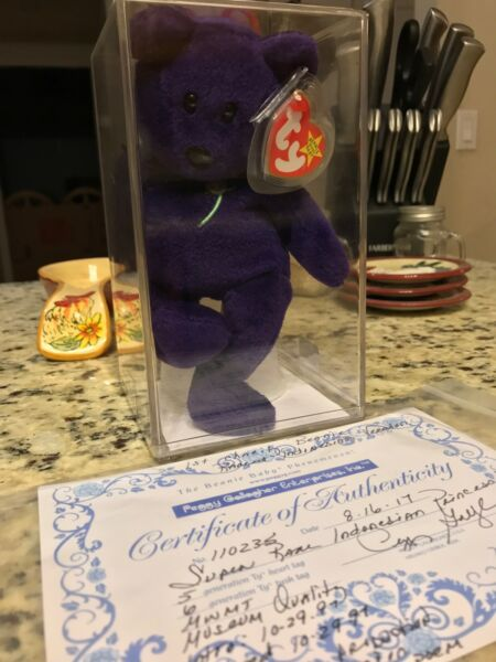 PRINCESS DIANA 1st Edition Beanie Baby Ghost Version PVC MUST READ MORE!