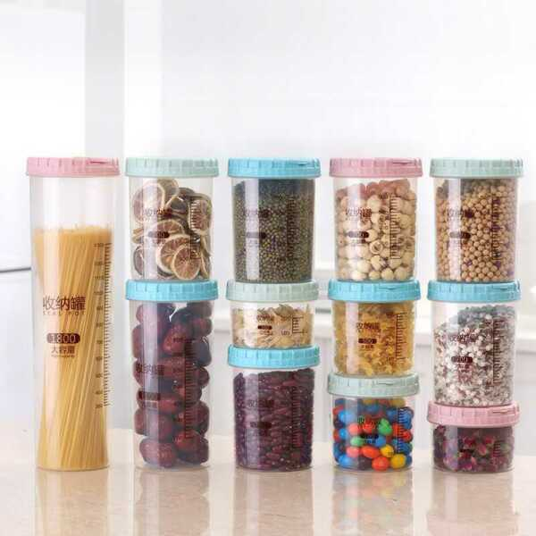 Storage Kitchen pasta box pantry Cereal Container Food beans Tub cabinet seal