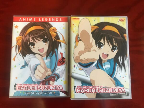 Haruhi Suzumiya Seasons 1 and 2 Complete DVD set lot entire series [LikeNew]