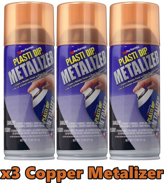 Performix 11236 Plasti Dip Enhancer Copper Metalizer 3 Pack Aerosol Spray Can