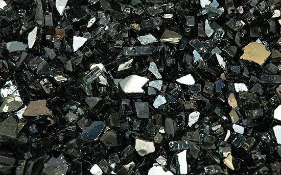 Black  Reflective Fire Glass  for Fire Pits  Fireplace 14