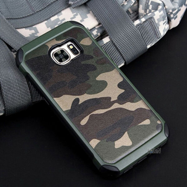 For Samsung Galaxy S7 S7 Edge Hard Armor Impact Case Cover Camo Army Military $8.99