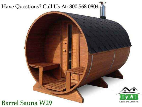Barrel Sauna Kit for 4-6 Persons HarviaM3 Heater Free Upgrades Free Shipping!
