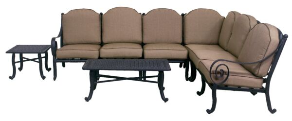 WYNN COLLECTION 4 PIECE DEEP SEATING SECTIONAL SET W END TABLE