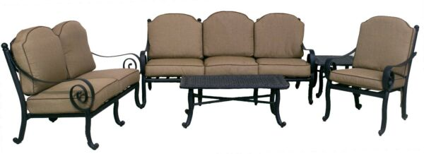 WYNN COLLECTION LOVESEAT SOFA CLUB CHAIR END TABLE & COFFEE TABLE outdoor set