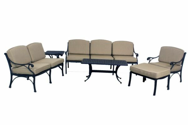 LE TERRACE COLLECTION LOVESEAT-SOFA-CLUB CHAIR-OTTOMAN-SMALL COFFEE TABLE SET