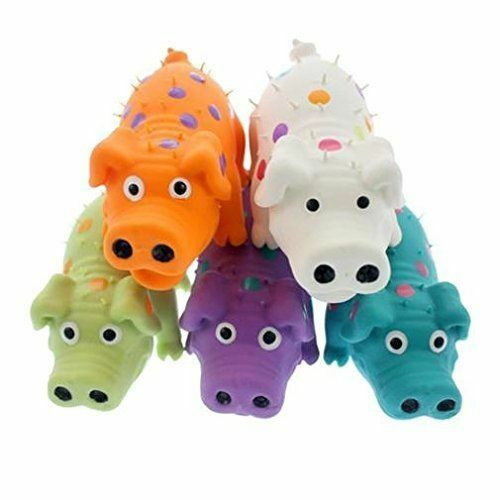 Multipet Latex Polka Dot Globlet Pig Dog Toy Color Varies 4