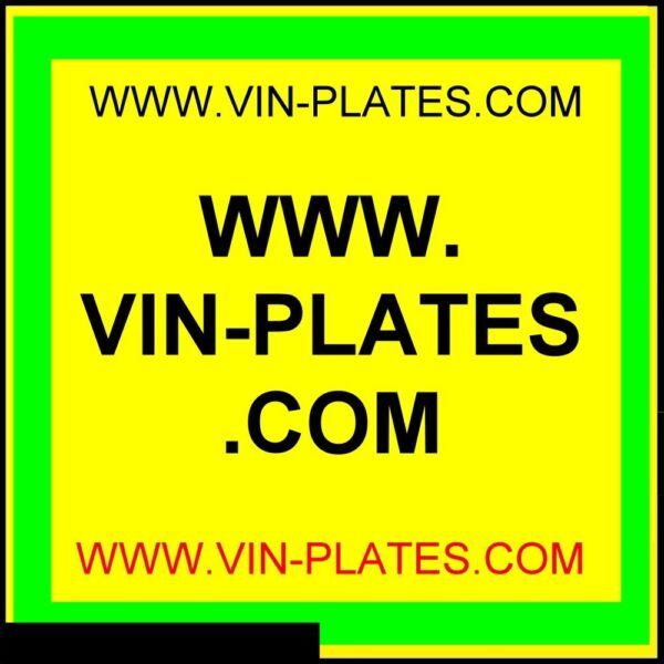 VIN-PLATES.COM + TRAILERS .ORG.UK ALL-BLANK-VIN-CHASSIS-PLATES ID LAND ROVER CAR