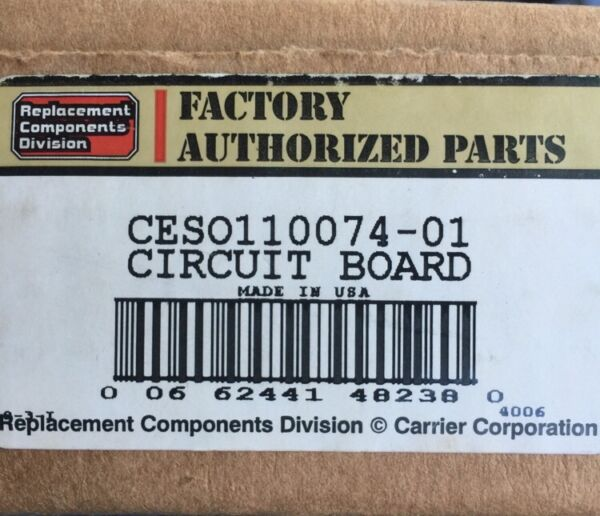 Factory Authorized Parts CES0110074-01 Circuit Board Furnace Control Carrier