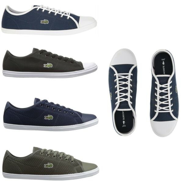 Lacoste Women Fashion Casual Lace Up Shoes NEW Ziane Canvas Series Sneakers