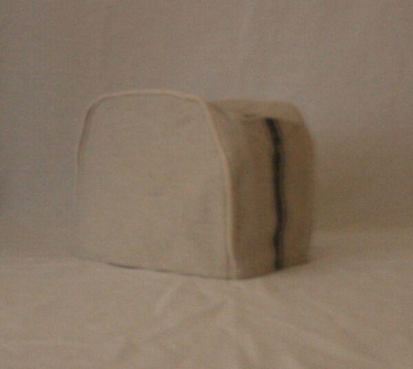 Blue Feedsack 4 Slice Toaster Cover