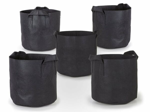 5PcsPack Black Fabric Grow Pots Breathable Plant Bags Smart Plant with handle