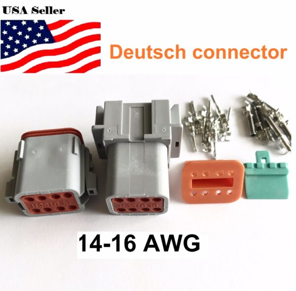 8-Pin Deutsch DT08 Engine Gearbox waterproof electrical connector
