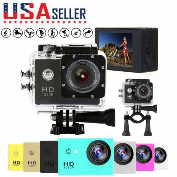 1080P Full HD Waterproof Sports DV Video Action Camera Camcorder DV DVR Cam US