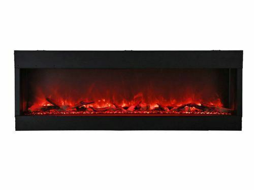3 Sided 72 Inch Wide Electric Fireplace