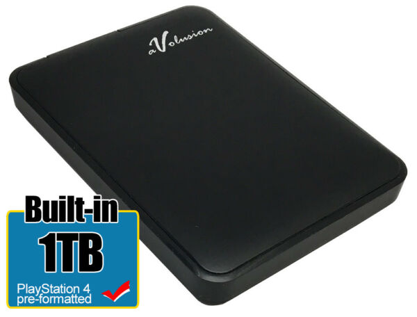 Avolusion 1TB USB 3.0 (PS4 Pre-Formatted) External PS4 Hard Drive (Slim