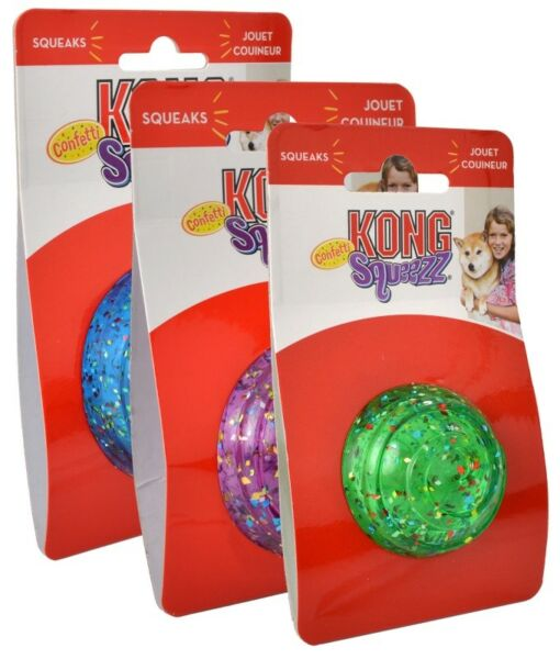 KONG Squeezz Confetti Ball  (Free Shipping)