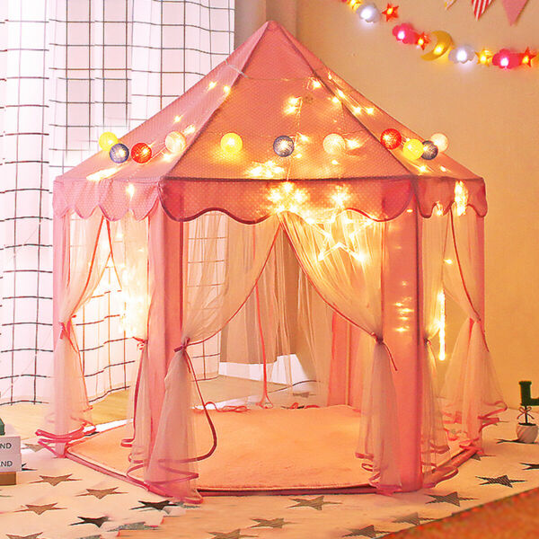 Girls Princess Castle Playhouse Children Kids Play Tent In/Outdoor Toys Pink