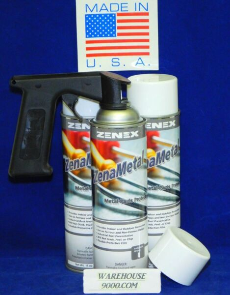3 ZenaMetal Aerosol Undercoating Cans WSpray Handle ~Won't Wash Off Chip Peel