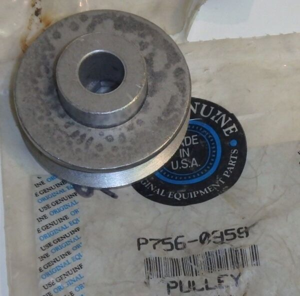 MTD Yardmachines Cub Cadet SNOWBLOWER Auxiliary Engine Pulley 756 0959 NEW