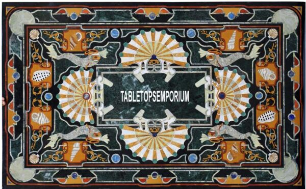 8'x5' Marble Marquetry Furniture Table Rare Inlay Living Room Mosaic Home Decor