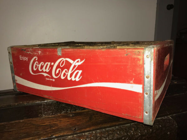 Vintage 1969 Coca Cola Coke Wooden Crate (12 Bottle Slots)