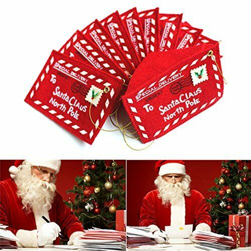 Santa Claus Mini Envelope Holiday Christmas Decorations Money  Gift Card Pouch