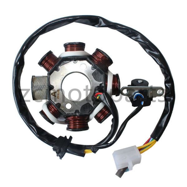 8 Pole Magneto Stator Coil GY6 125cc 150cc Chinese 150 Scooter ATV Quad Go Kart $18.95