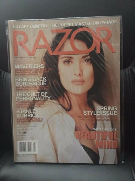 RAZOR MAGAZINE March. 2003 Salma Hayek Cover