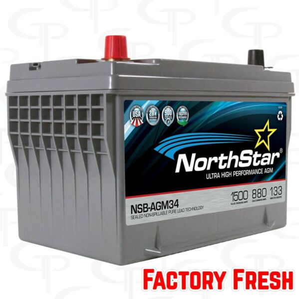 Northstar AGM 34 Battery Car Audio FACTORY FRESH