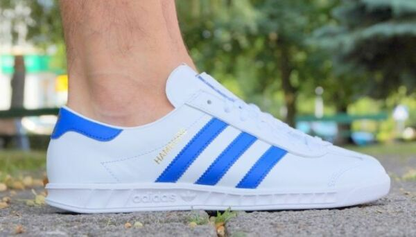 NEW MENS ADIDAS HAMBURG SNEAKERS BY9758-SHOES-MULTIPLE SIZES