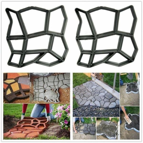 Driveway Walkway Paver Mold Stone Pavement Concrete DIY Building Materials Mould