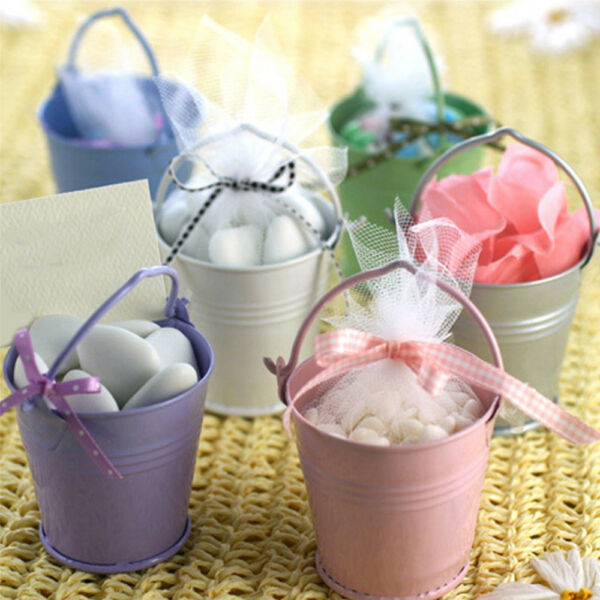 Mini Metal Bucket Candy Favours Box Pail Wedding Party Festivals Gifts Buckets