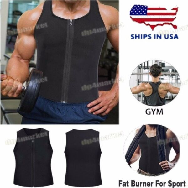 Hot Thermo Sweat Vest Waist Trainer Neoprene for Men Perfect Muscle Exercise $12.87