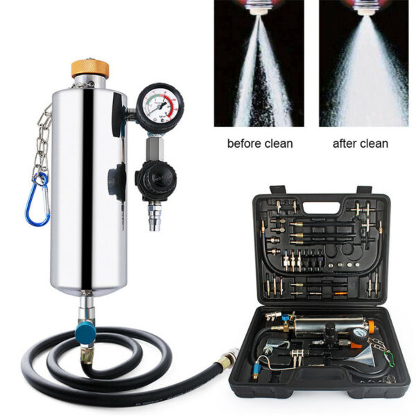 Universal Vehicle Car Fuel Injector Cleaning Tool Carbon Removal Washer Kit NEW