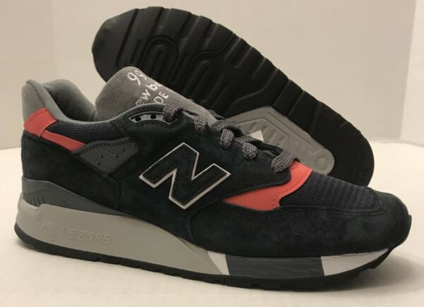 NEW BALANCE 998 Suede Shoes Made in The USA M998APC NAVY/PINK (MEN'S 7) NO BOX