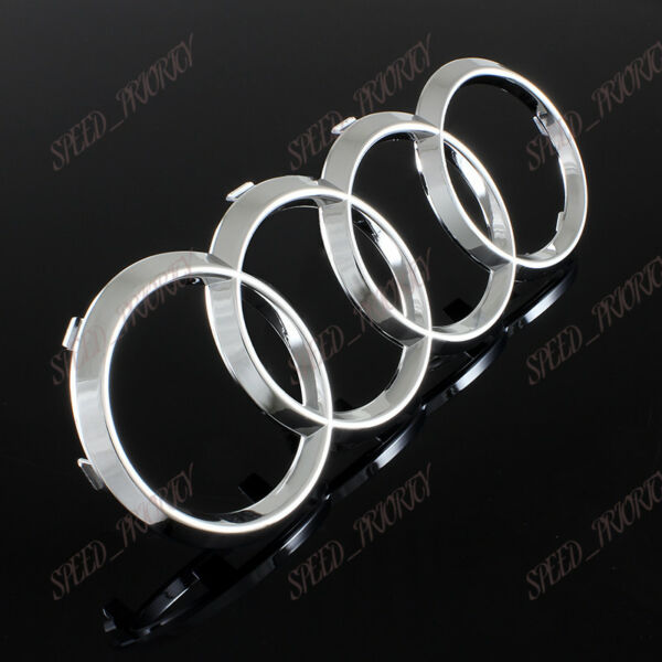 For Audi Front Rings Chrome Grill Hood A3 A4 S4 A5 S5 A6 S6 SQ7 TT Badge Emblem