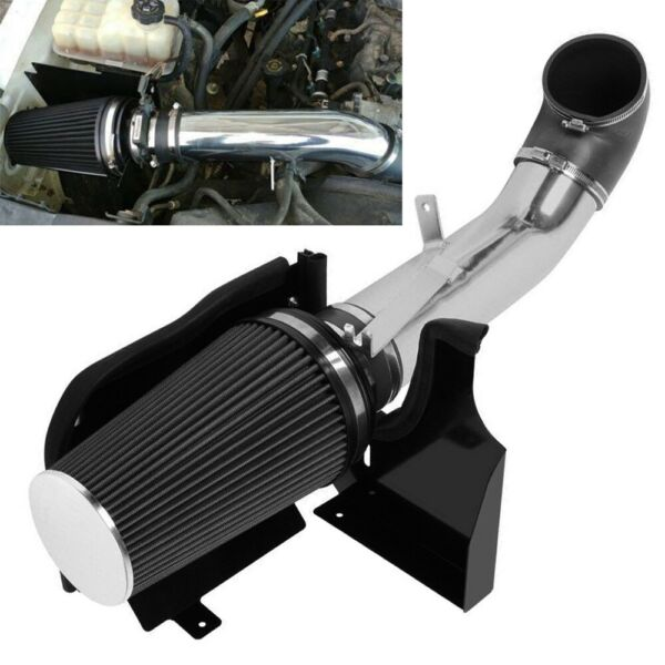 4quot; Heat Shield Cold Air Intake SystemFilter Fit GMC Chevy V8 4.8 5.3 6.0L Black $45.99