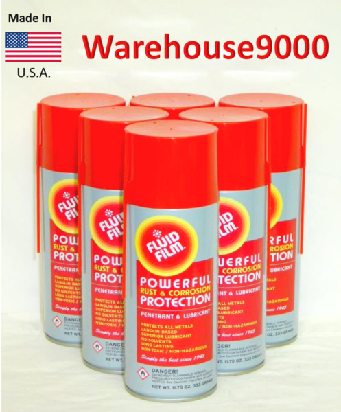 6 Fluid Film Undercoating Aerosol 11.75 oz can Rust Proof Lubricant Long Lasting