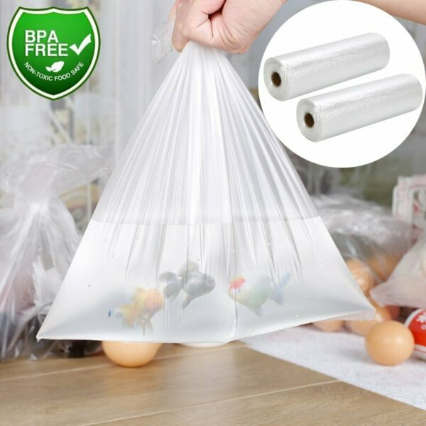 12x20 Clear Plastic Produce Bags 350  Roll Kitchen Food Storage Bag Supermarket