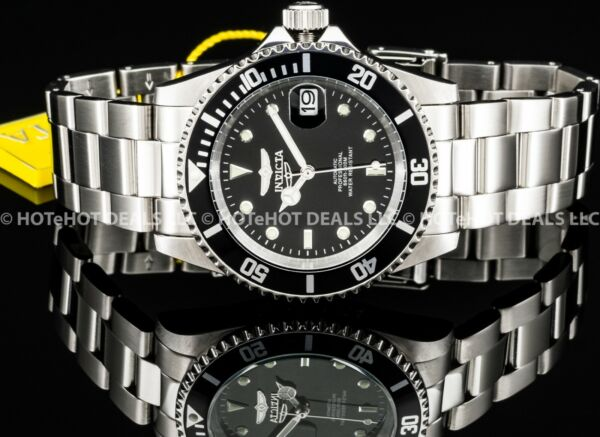 Invicta Men#x27;s Submariner Coin Edge Pro Diver Automatic Exhibition NH35A SS Watch $83.99